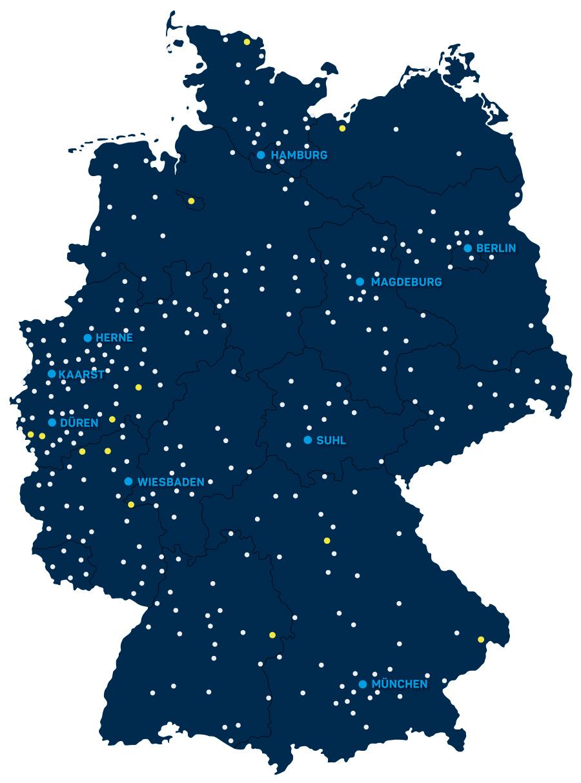 Standortekarte gepe Gebäusedienste Peterhoff GmbH